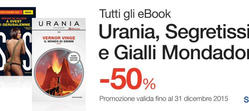 Ebook Mondadori a metà prezzo
